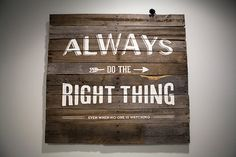 Custom Large Pallet Art Quote 40x40 by brittoknee on Etsy, $75.00