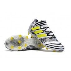 4af3f9ec22fc Authentic Adidas Nemeziz 17.1 FG Soccer Cleats - White Black Yellow Adidas  Cleats