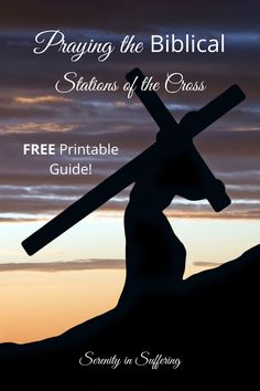 FREE Printable stations of the cross and evotional! Transform your Holy Week! #serenityinsuffering #stationsofthecross #lent #easter #cross #crucifixion #jesus Christian Music, Christian Living, Christian Life, Christian Quotes, Fill My Cup Lord, Easter Cross, Holy Week, Christian Encouragement, S Word