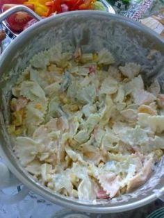 Cestovinový šalát 2 - recept Potato Salad, Cabbage, Food And Drink, Vegetables, Cooking, Ethnic Recipes, Pergola, Cake, Belle