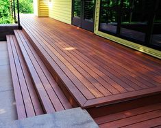 Connall Residence wood #deck Would look good with some lighting under the steps