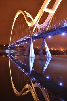 Infinity Bridge at Stockton, England