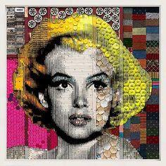 Renaud Delorme, Marilyn Monroe, 2011 / 2015 © www.lumas.com/ #LumasCelebrities,  Celebrity,  Collage,  Collages,  colourful,  Colours,  Concept,  concepts,  Creation,  graphic,  layer,  layers,  Marilyn Monroe,  Object,  Objects,  People,  Pop Art,  Portrait,  Portraits,  Woman,  Women
