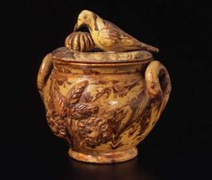 Attributed to Anthony Wise Baecher (1824–1889)  The Big Hunting Creek Pottery (act. 1881–1883), Mechanicstown, Maryland  c. 1881–1883  Glazed red earthenware