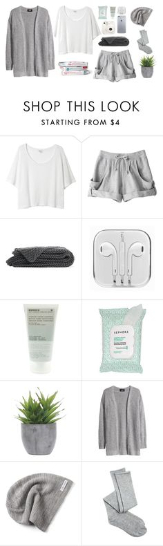 """""""cozy night with friends"""" by semmaos ❤ liked on Polyvore featuring Monki, adidas, Fuji, Korres, Sephora Collection, Lux-Art Silks, H&M, Converse and Charlotte Russe"""