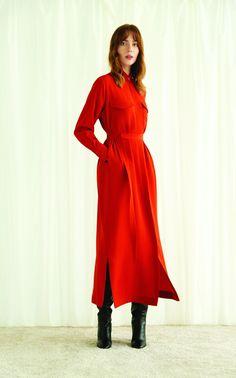 619804fb1dc Crepe Shirt Dress by Bouguessa FW19