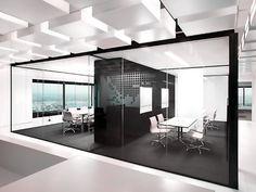 Конференц-зал: Следует уделить элегантному оформлению дизайна интерьера из стекла