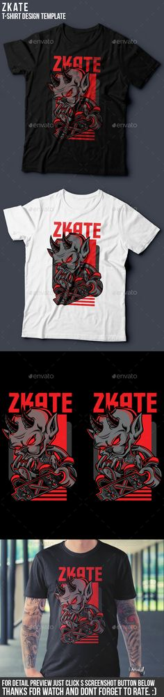Zkate TShirt Design — Vector EPS #artwork #badass • Download ➝ https://graphicriver.net/item/zkate-tshirt-design/19451604?ref=pxcr