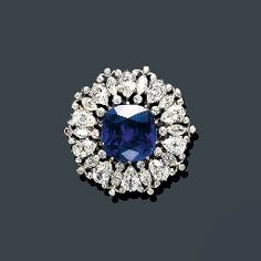 AN IMPORTANT BELLE EPOQUE SAPPHIRE AND DIAMOND BROOCH, TIFFANY & CO.