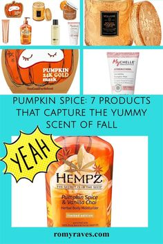 Girlfriends - here are some of my most FAV pumpkin based skin care and beauty products. This is my season!