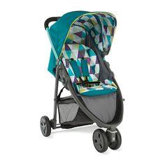 Petite Star Zia X 3-Wheeler Stroller - Purple Berry - buggies & strollers - Mothercare