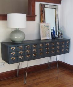 Library Card Catalogs Transformed Into Awesome Furniture