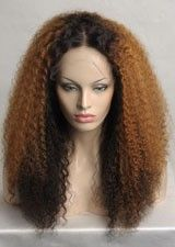 Sensational Long Curly #2/#30 Remy Human Hair Full Lace Wig