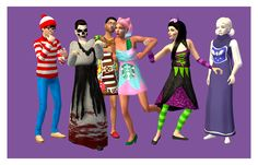 Monster Mash - Halloween Costumes for Teens Halloween is my FAVOURITE holiday. Nothing gets me in a better mood, season-wise. So here's a bunch of costumes that I handmade for your teen sims to wear,. Halloween Costumes For Teens, Theme Halloween, Holidays Halloween, Disney Halloween, Monster Mash, Warm Sweaters, Sims 2, Costume Dress, Good Mood