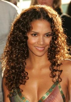 Halle Berry's natural curls