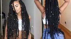 Senegalese | Havana | Jumbo Twists Natural Hair tutorial (Miami Slay) [Video] - https://blackhairinformation.com/video-gallery/senegalese-havana-jumbo-twists-natural-hair-tutorial-miami-slay-video/