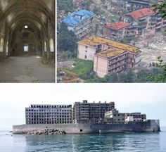 """From the romantic and enigmatic ghost town at Kayakoy in Turkey to Hashima """"Battleship"""" Island and the bizarre remains of the Sanzhi Pod City """"UFO houses"""" in Taiwan.  Other cities like Beichuan in China were tragically brought to their knees by earthquakes, while Kowloon Walled City in Hong Kong was such an notorious shanty that it was demolished and replaced by a garden."""