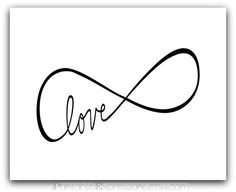 Infinity symbol of Love 8x10 or 16x20 by PrintableExpressions