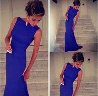 2015 nuevas mujeres de la sirena del vestido nueva moda 3 colores sin mangas vestido largo Sexy elegante mujeres del partido de coctel de la celebridad del vestido