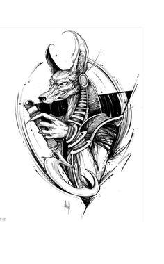 Sketch Tattoo Design, Tattoo Sketches, Tattoo Drawings, Art Sketches, My Drawings, Family Tattoo Designs, Family Tattoos, Egypt Tattoo, Anubis Tattoo