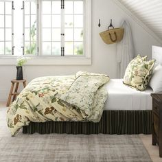 You'll love the Williamsburg Abby Ivory/White/Green Standard Cotton Reversible Traditional 4 Piece Comforter Set at Wayfair - Great Deals on all Bed & Bath products with Free Shipping on most stuff, even the big stuff. King Comforter, Comforter Sets, Duvet, Ruffle Bed Skirts, Ruffle Bedding, Waverly Bedding, Bed Spreads, Accent Pillows, Floral