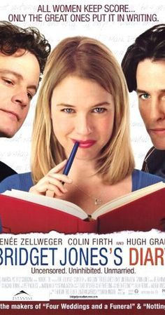 Directed by Sharon Maguire.  With Renée Zellweger, Colin Firth, Hugh Grant, Gemma Jones. A British woman is determined to improve herself while she looks for love in a year in which she keeps a personal diary.