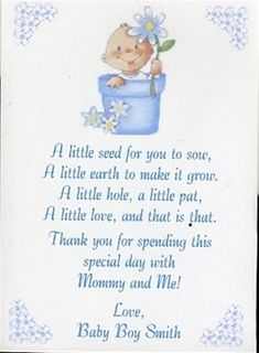 Cute Poem For Favor Boxes Or Thank You Cards | Baby Shower | Pinterest |  Poem, Favors And Box