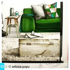 Работа нашей студентки @orlova.yuyu  #sketch  #marker #markerrender  #texture  #дизайн #decorideas  #interiorsketch #interiorrendering #interior #interiordesign #arteinteriorsketch