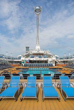 Anthem of the Seas waves hello to Southampton, UK.