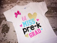 Lil Miss Pre-K Grad Shirt with Bow
