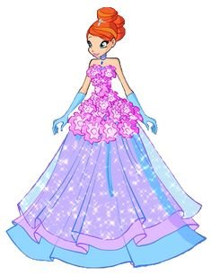 Bloom 5 Flower Princess by on DeviantArt Bloom Winx Club, Fairy Pictures, Disney Pictures, Les Winx, Flora Winx, Barbie Images, Girls Are Awesome, Cartoon Outfits, Childhood Movies