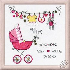 It's a Girl! - Cross Stitch Kits by RIOLIS - 1417