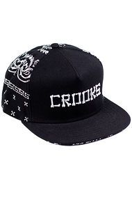 Crooks and Castles The Bones Bandana Snapback in Black