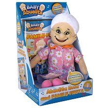 "Baby Abuelita Mini Rosa Doll and DVD by Baby Abuelita Productions. $20.16. Recommended Age: 3 - 8 years. Baby Abuelita's newest addition to the line features: Collectible Mini 10.5"" plush Abuelita Rosa Doll which are non-musical but include the Award winning animated DVD ""Family Fiesta"", and three *Free music downloads from www.babyabuelita.com are included with purchase. DVD Specification: The ""Family Fiesta"" DVD has 3 episodes and approximately 60 minutes of ..."