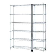 OMAR 2 open kastelementen IKEA Eenvoudig te monteren - geen gereedschap nodig. Staat door de verstelbare poten ook stevig op een oneffen vloer.