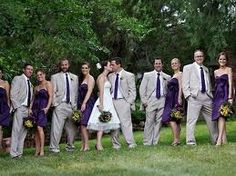 purple and grey wedding.  i think id like it better gray and light blue.