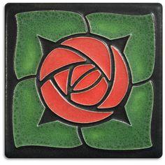 4x4 Rosie O'Grady - Red from Motawi Tileworks