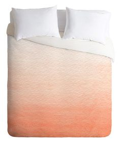 Take a look at this Social Proper Peach Ombre Duvet Cover by DENY Designs on #zulily today!