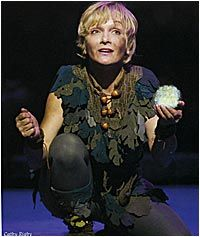 Cathy Rigby as Peter Pan, Broadway star and Tony award nominee