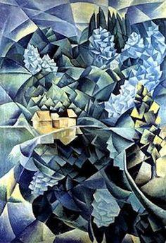 Nathan Altman - Landscape in Blue 1914