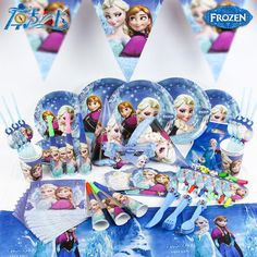 116 pcs lot for 12 people New Kids Birthday Party Decoration Set Birthday olaf elsa Theme Party Supplies Baby Birthday Party Pack  #Kitchen #GBBO #Kitchengadgets #Kitchenutensils