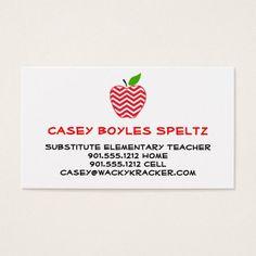Substitute Teacher Business Card Template Cuteappleblue - Substitute teacher business card template