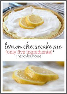 Easy Lemon Cheesecake Pie