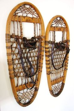 Vintage U.S 10th Mountain Division Bear Paw snow shoes 1945