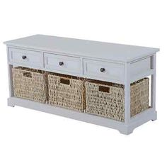 Shoe Storage Benches For Entryway Bench Wicker Baskets White Unit Cabinet | Shoe Storage | Storage Solutions - Zeppy.io