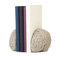 UncommonGoods: left brain, right brain bookends... for $68 #uncommongoods