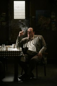 The Sopranos - Tony alone with his thoughts #GangsterFlick