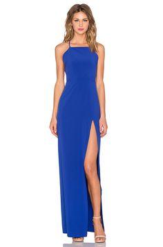 Donna Mizani Square Neck Gown in Lapis | REVOLVE