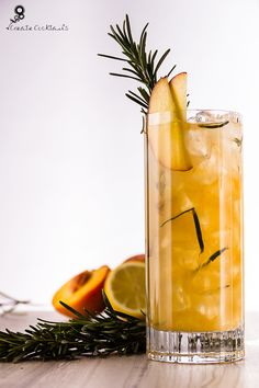 Rosemary & White Peach Collins - Vodka, peach liqueur, fresh rosemary ...