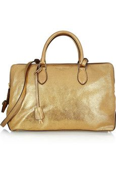 Rochas Metallic Textured-Leather Tote $2,145 #Metallics #Studs